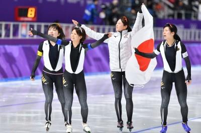 冬奧》女子競速滑冰團體賽奪金  日本隊獎牌數破紀錄