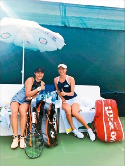 網球》謝淑薇搶10險勝、詹皓晴對手棄賽 杜拜女雙各自晉4強
