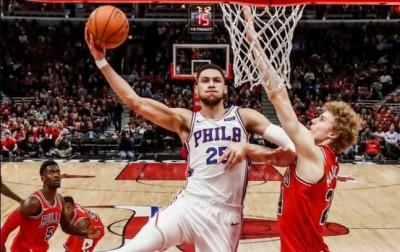NBA》費城雙星合轟62分 七六人1分險勝公牛