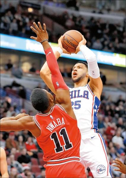 NBA》西蒙斯兩罰全進 七六人慶6連勝