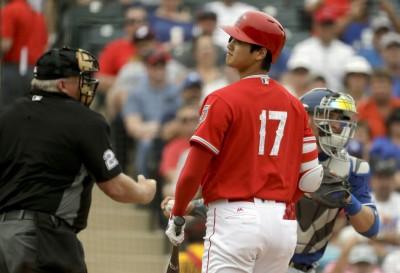 MLB》 天使舉行模擬賽 大谷翔平面對曲球大揮空