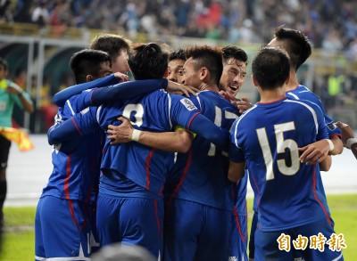 足球》台灣男足再攀顛峰 世界排名創史上新高