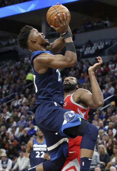 NBA》睽違14年季後賽首勝 灰狼神準外線擊落火箭