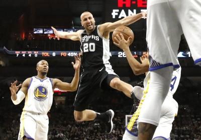 NBA》靠40歲吉諾比利救援 馬刺贏勇士杜蘭特34分白搭