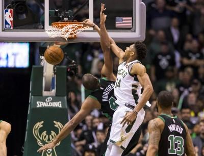 NBA》「字母哥」亞德托昆波準絕殺! 公鹿連贏2場扳平戰局(影音)