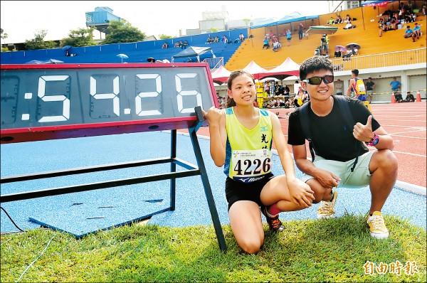 全中運》哪裡跌倒哪裡「跑」起來 國女許嘉恩衝台灣第3快