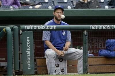 MLB》左臂發炎症狀解除 克蕭最快兩週內歸隊