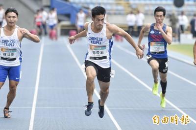 田徑》比世大運更快!楊俊瀚衝出10秒12 但超風速不算