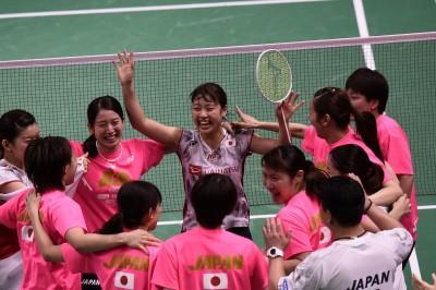 羽球》日本完勝泰國 相隔37年後抱走優霸盃冠軍
