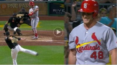 MLB》投手突襲丟球?紅雀貝德揮棒不及 成超囧出局(影音)