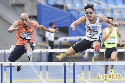 田徑》尬贏南非好手 陳傑為台灣留下金牌