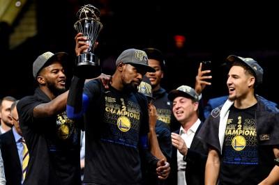 NBA》杜蘭特成為勇士救世主 蟬聯總冠軍戰MVP