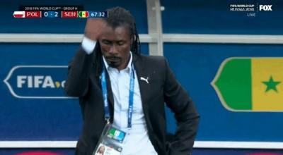 世足賽》本屆唯一1位黑人教練 西塞場邊喜感動作爆紅