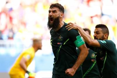 世足賽》丹麥提前晉級的夢碎 上半場手球誤事被澳洲逼和