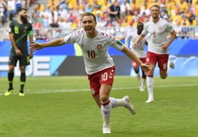 世足賽Live》開賽7分鐘進球無用 丹麥要命手球遭澳洲踢平