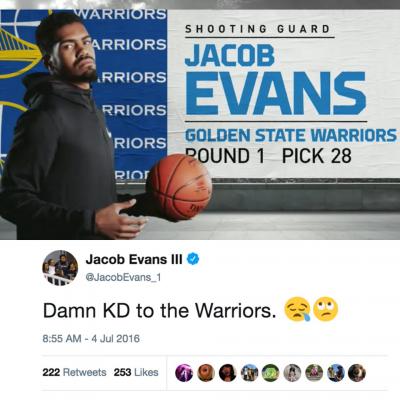 NBA》這下尷尬了...勇士新秀曾發文抱怨杜蘭特