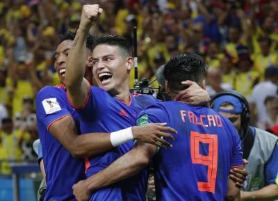 世足賽》J羅神妙傳率哥倫比亞大勝 淘汰世界第8波蘭