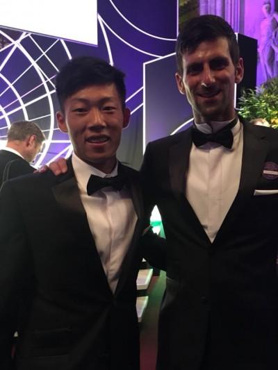 溫網》曾俊欣、「四冠王」喬帥相見歡 溫網冠軍晚宴英雄會