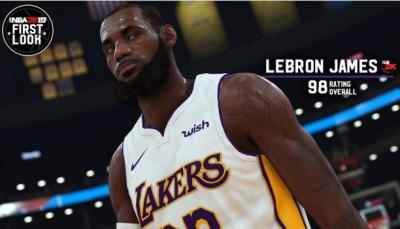 NBA》詹皇西進當湖人更強!2K能力值高達98