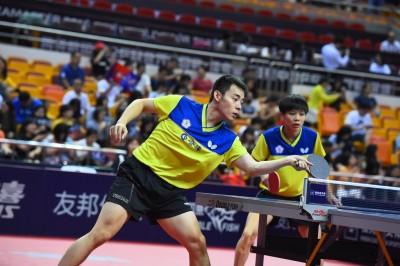 南韓桌球賽》推倒中國長城!「安靜配」闖進混雙四強