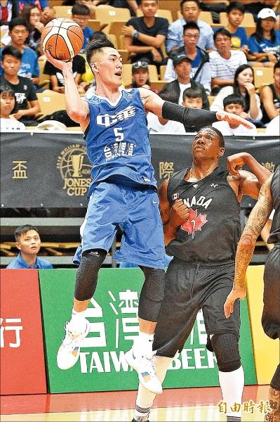 瓊斯盃》台灣藍輸「加」 劉錚10分全隊最高