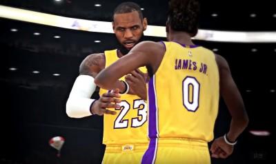 NBA》《2K》預告與兒子當隊友 詹姆斯:我的天啊(影音)