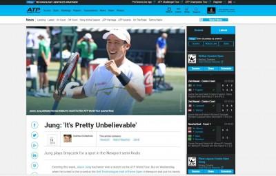 網球》打下生涯最佳成績  莊吉生榮登ATP官網報導
