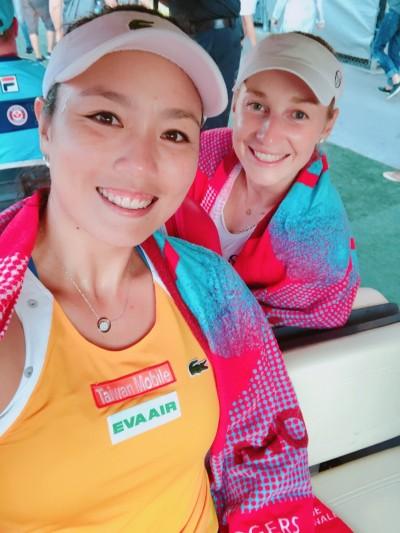 網球》亞運國手詹詠然乘勝追擊 羅傑斯盃女雙重返4強
