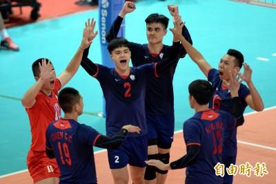 亞洲盃男排》5局激戰!台灣險勝泰國 後天搶4強門票