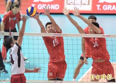 亞洲盃男排賽》遭日本絕地大逆轉 台灣隊第四名作收