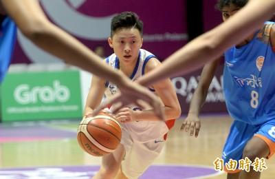 亞運》下半場甦醒扳倒印度  台灣女籃提前晉八預約分組第一
