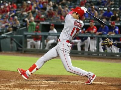 MLB》大谷代打三分砲姿勢太經典 美球迷:可以做成大聯盟Logo