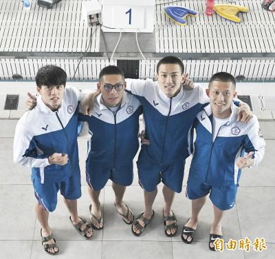 亞運游泳》輔大F4男子400自接力第5晉決賽 今晚衝擊獎牌