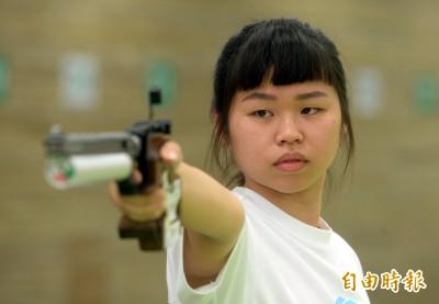 亞運》女子10公尺空氣手槍 余艾玟預賽第5晉級決賽