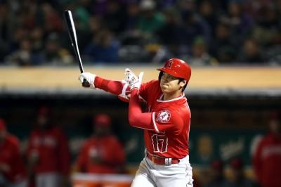 MLB Live》大谷翔平敲安、選到2保送 天使9:7勝運動家