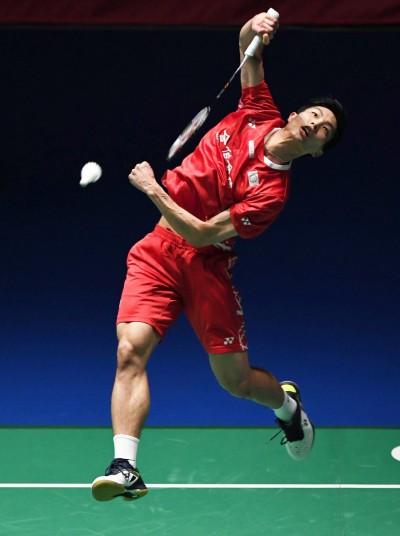 中國羽球公開賽》單打唯一希望 周天成直落二勝旺查倫晉級8強