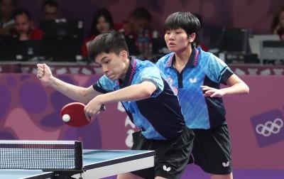 青奧》桌球混雙團體   林昀儒、蘇珮綾激戰鍍銅