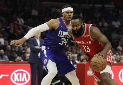 NBA》保羅禁賽缺陣  哈登獨撐火箭不敵快艇