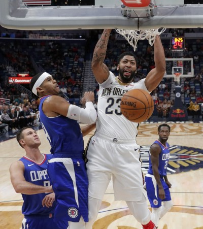 NBA》戴維斯34分13籃板5火鍋 鵜鶘下半場逆轉快艇