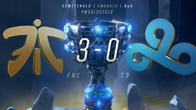 英雄聯盟世界賽》重返榮耀只差一步! FNC橫掃C9晉級決賽