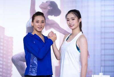 百欄女神謝喜恩與體操精靈楊千玫練起來 呈現美的極致