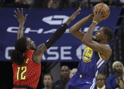 NBA》昨與格林爆發衝突 杜蘭特今率勇士力退老鷹