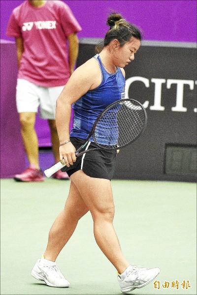 海碩盃女網賽》梁恩碩單雙打盡墨 台將宣告收工