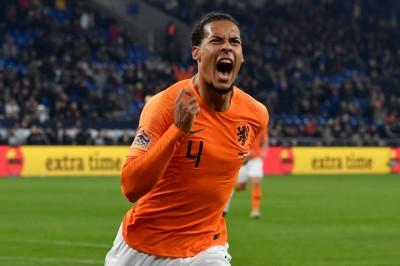 足球》范戴克補時階段關鍵破網 荷蘭挺進歐國聯4強