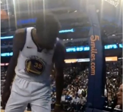 NBA》勇士連敗壓力大?KD比賽中怒對球迷爆粗口(影音)