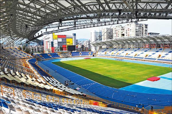 台北聽障奧運主場館台北田徑場,明天正式啟用。(記者陳奕全攝)