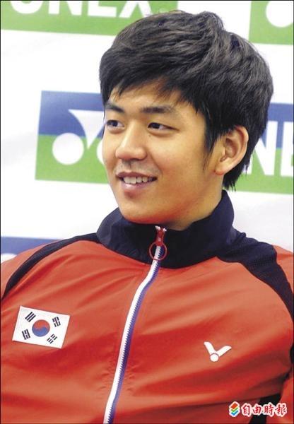韓國選手李龍大。(記者王藝菘攝)