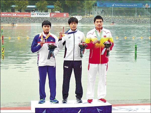 張允銓(左)。(台灣輕艇隊教練李綿綿提供)