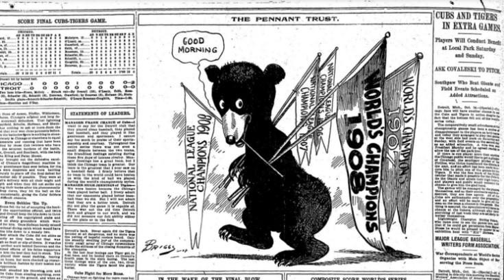 小熊奪冠報紙瘋搶 銷量直逼歐巴馬當選總統
