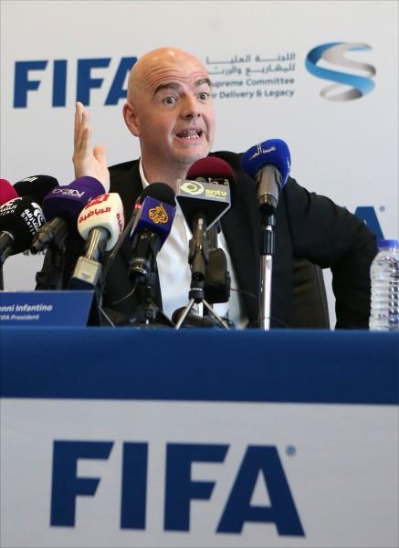 國際足總(FIFA)提出世界盃擴軍計畫,可能從從32隊增加至48隊。(資料照,法新社)